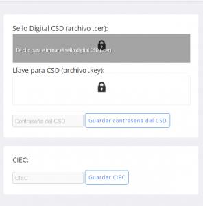 Módulo de configuración Certificados CSD