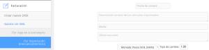 Módulo de facturación Compra sin XML