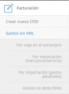 Módulo de facturación Gastos sin XML