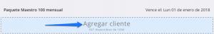 Módulo de administración Cargar clientes