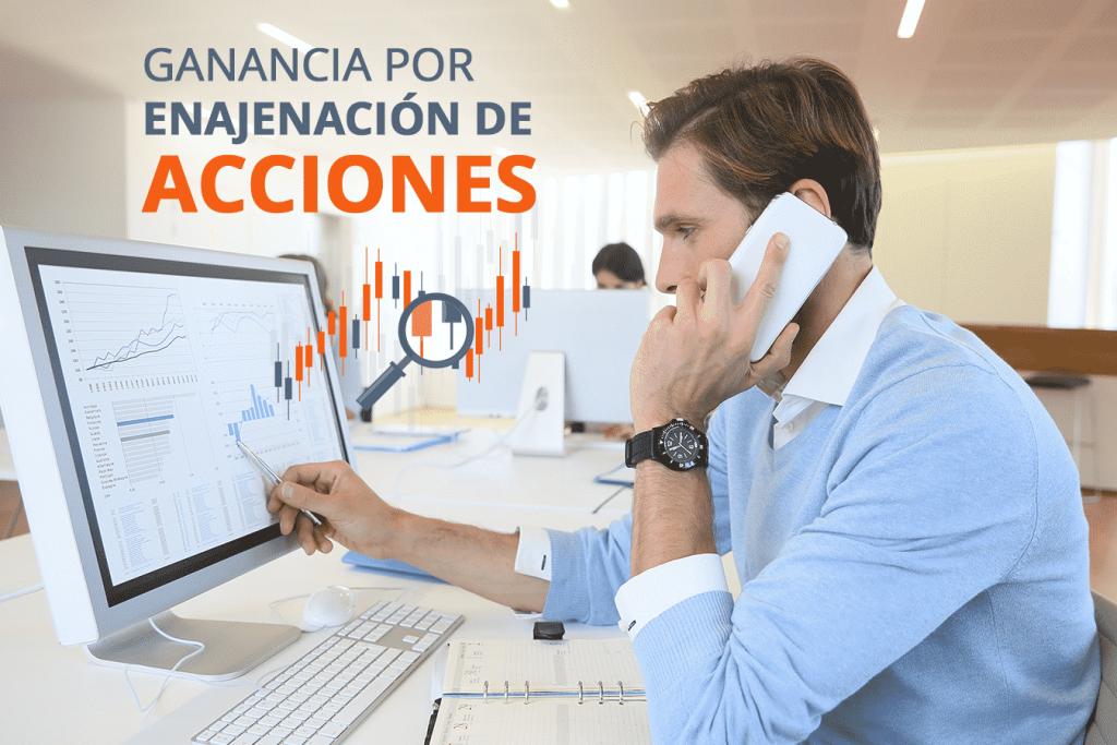 DETERMINACIÓN  DE GANANCIA, POR  ENAJENACIÓN DE ACCIONES. 1