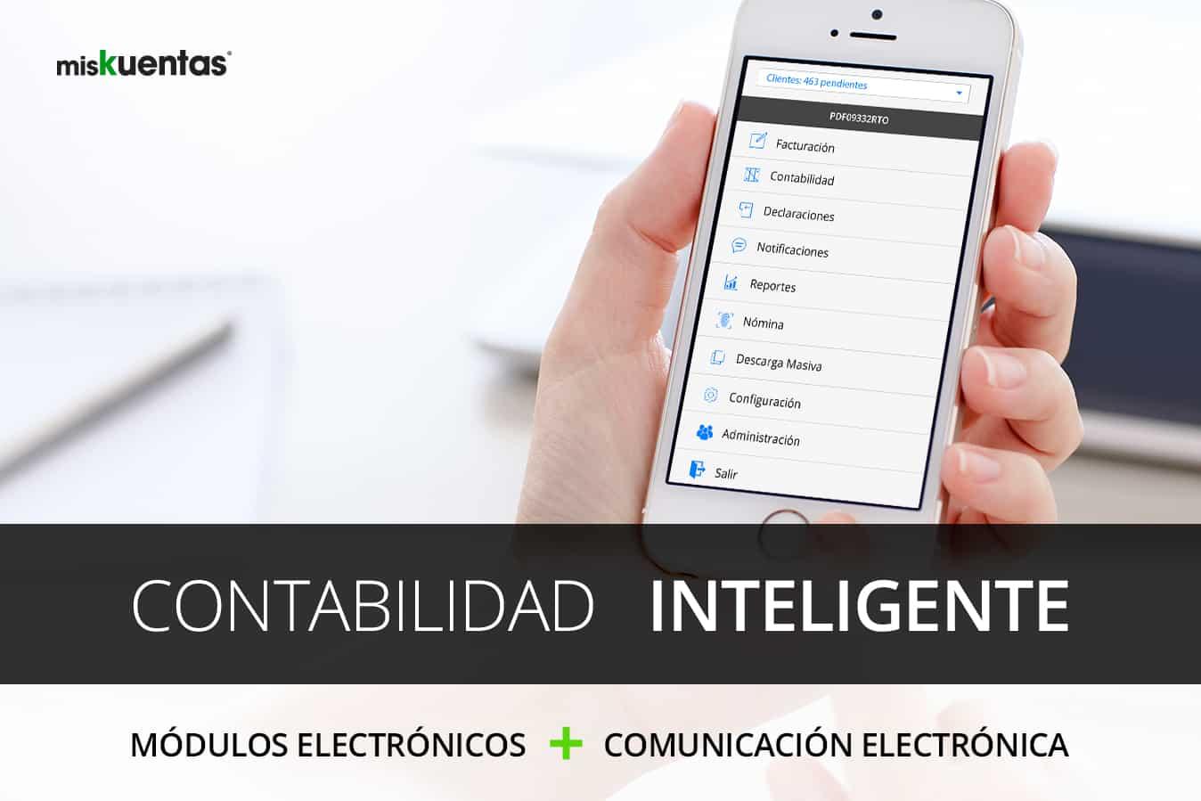 miskuentas.com ofrece, el sistema electrónico de mayor capacidad en el mercado. El modelo de contabilidad inteligente