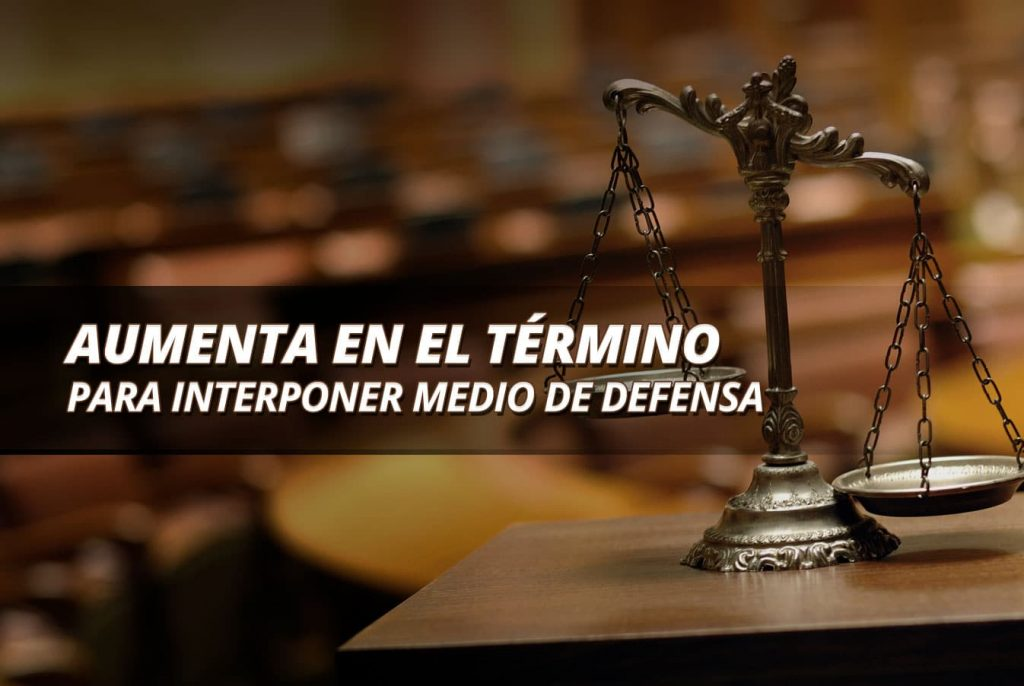 EL TÉRMINO PARA INTERPONER MEDIO DE DEFENSA 1