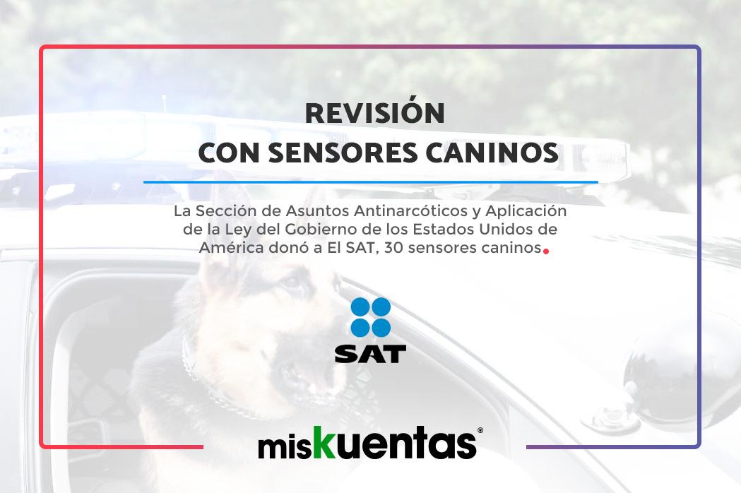 La Sección de Asuntos Antinarcóticos y Aplicación de la Ley del Gobierno de los Estados Unidos de América donó a El SAT, 30 sensores caninos