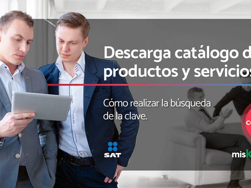 Descarga el catálogo de productos y servicios de factura 3.3 SAT: