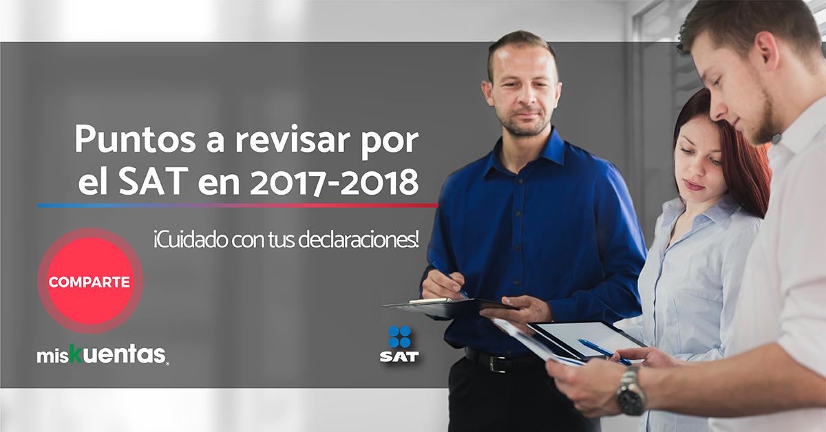 El cfdi 3.3 es un documento muy robusto en la información por lo que ciertos puntos de revisión por el SAT en tu declaración 2017-2018 es tarea sencilla