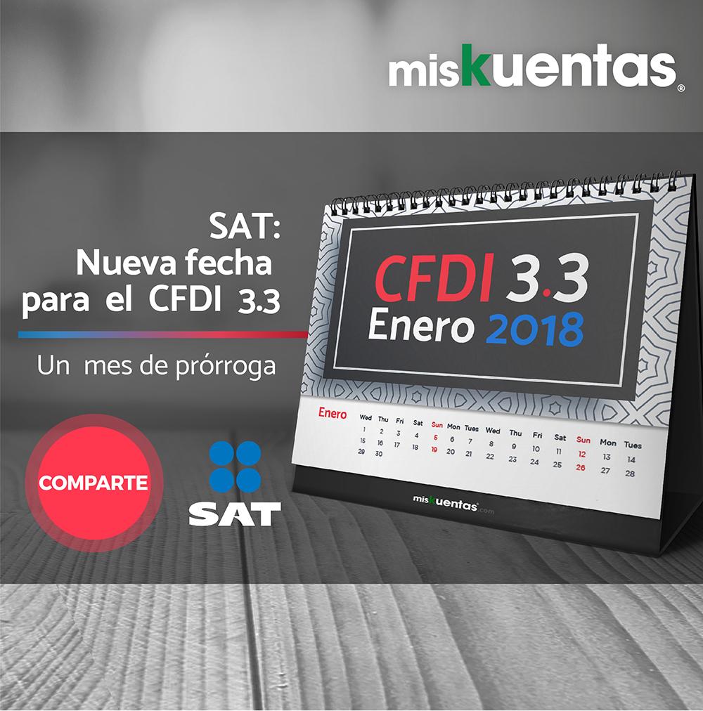 """Otorgan un mes más para implementar CFDI 3.3; mientras la emisión del comprobante """"Complemento para la recepción de pago"""" será obligatoria hasta el septiembre 2018"""