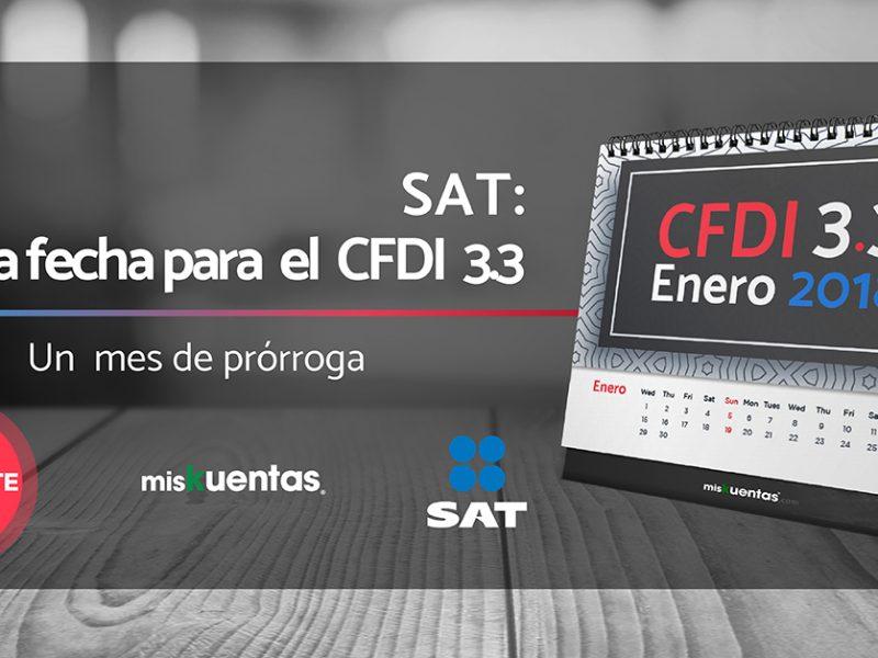 Otorgan un mes más para implementar CFDI 3.3