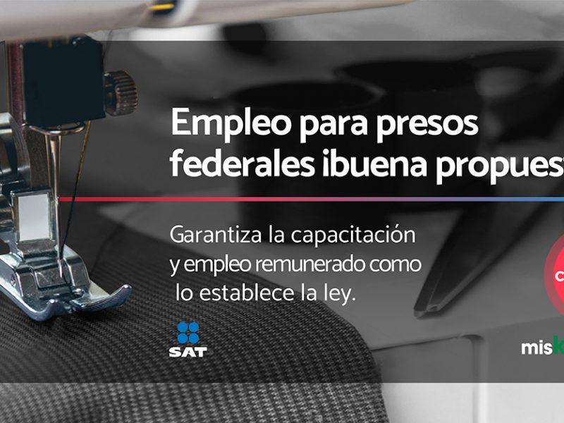 Garantiza la capacitación y empleo remunerado a los presos como lo establece la ley