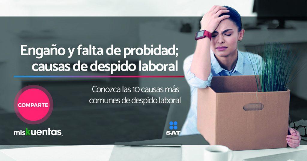 Engaño, y falta de probidad; causas de despido laboral en México 1