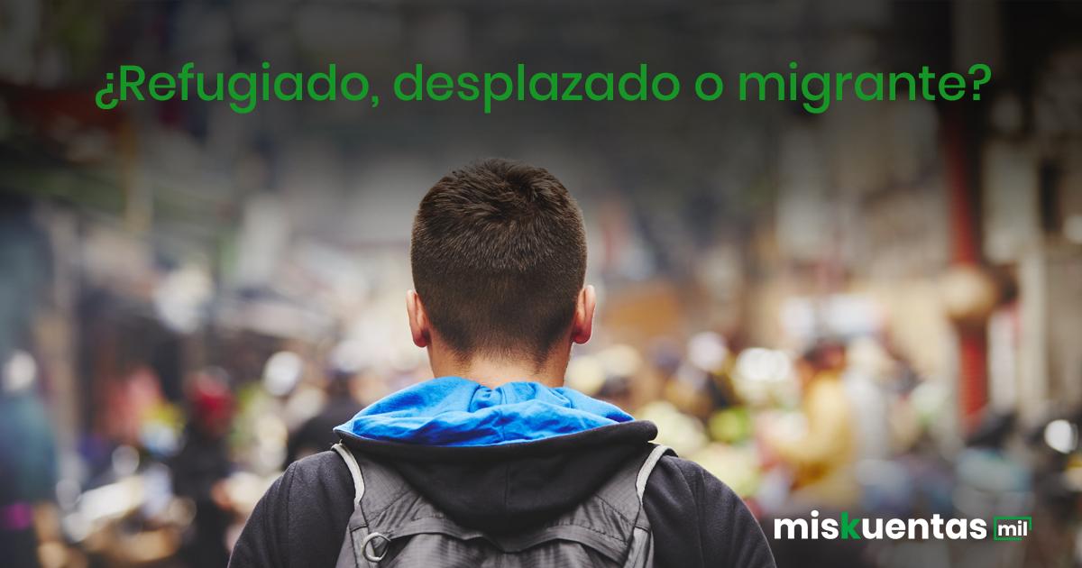 Existen grandes diferencias entre los transmigrantes con base en la razón que les obligan a dejar su hogar; estos pueden ser: Refugiados, desplazados o migrantes