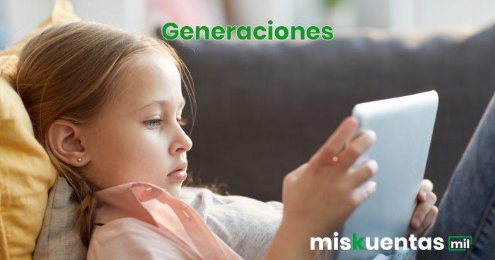 Hábitos de consumo de las generaciones recientes (millennials, generación Z y alpha)